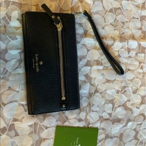 Kate spade leather pebble wallet